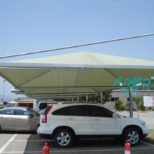 供应户外膜结构停车棚户外钢结构停车棚