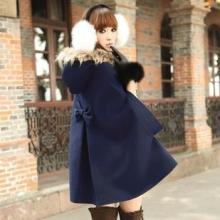 供应秋冬装新款英伦女士风衣外套双牛角扣带帽披肩斗篷毛呢子大衣