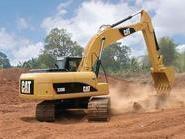 攀枝花卡特320D挖机图片