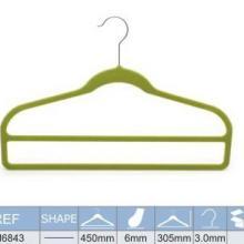供应两层毛巾植绒衣架