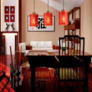 红色经典中式传统书房灯/餐厅灯吊图片
