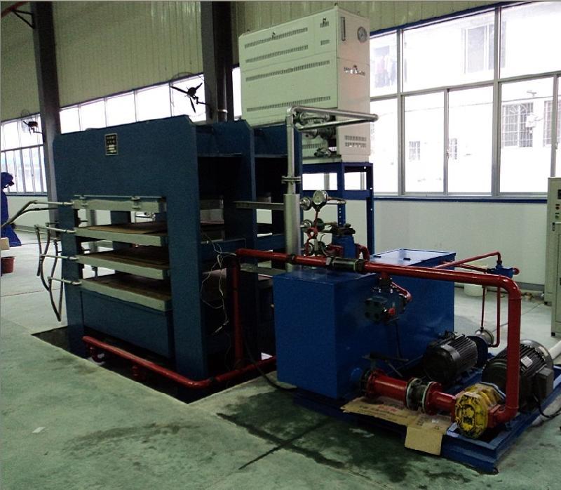 ...热压机是层压件加工中的最重要设备.主要由机身、油缸、热压...