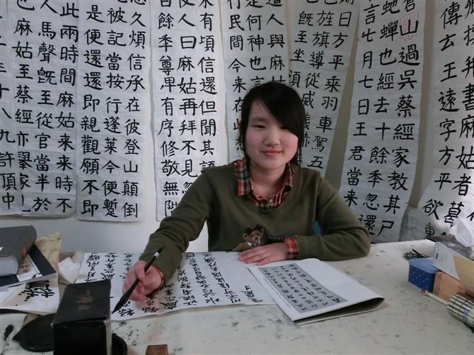 培训班样板图 郑州最好的书法高考培训班 郑州点成书法培训
