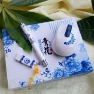 西安青花瓷笔套盒榆林青花瓷笔套装图片