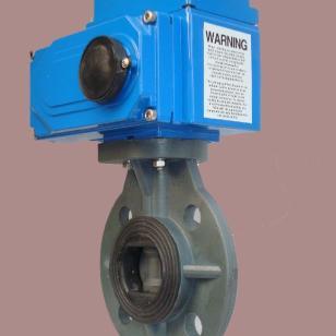 D971S电动PVC塑料蝶阀图片