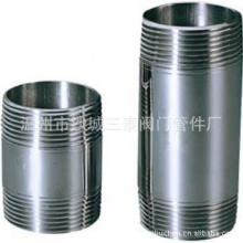 供应不锈钢管子双头丝卫生级管子外丝批发