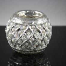 南瓜形烛台条纹烛台,人工吹制高硼硅玻璃烛台珍珠烛台烛杯批发