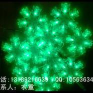 LED大雪花灯串挂件-18CM透明雪花灯图片