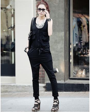 风范多口袋显瘦连身裤销售