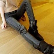 新品阴阳面显紧身铅笔牛仔裤图片