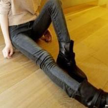 供应3359韩版女装2011新品阴阳面显紧身铅笔牛仔裤图片