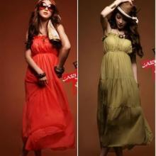 供应10227两色入日韩女装新款唯美性感吊带雪纺连衣裙