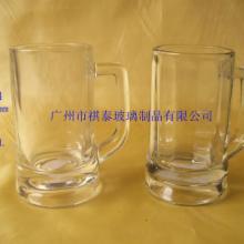 供应玻璃高白料厚底啤酒杯