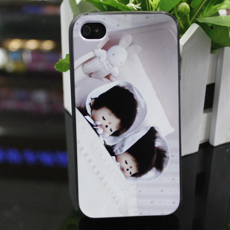 专业销售手机外壳苹果4/4s 硅胶彩绘软壳 可爱卡通蒙奇奇