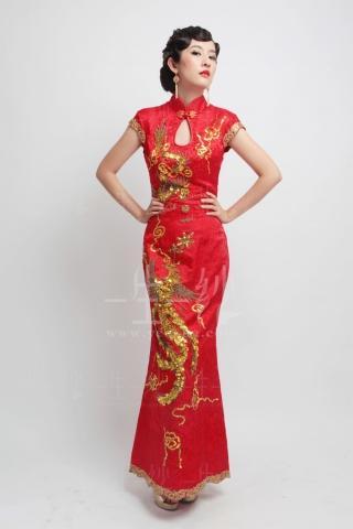 红色旗袍图片 红色旗袍图片,美女穿红色旗袍图片