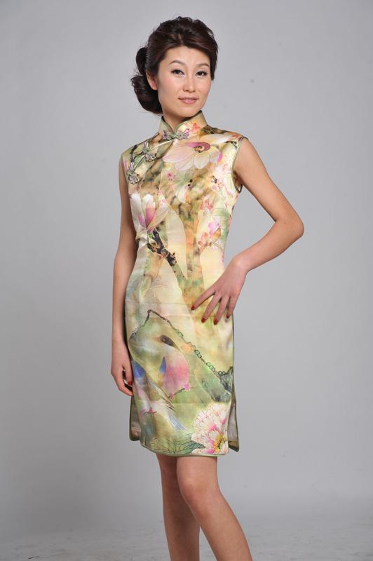 真丝旗袍裙