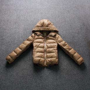 批发外贸原单品牌冬装时尚短款女式图片