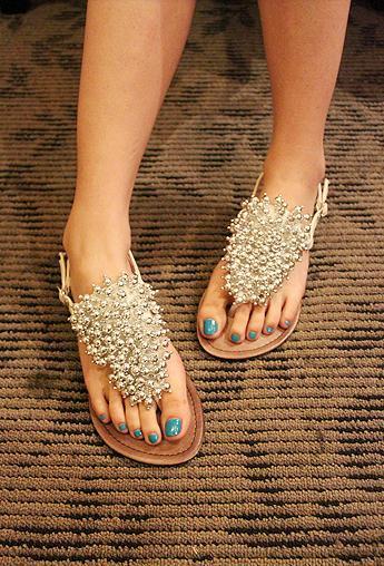 平底鞋串珠波西米亚女