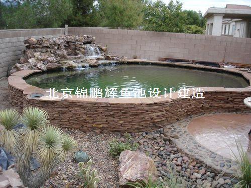 供应别墅室内鱼池建造 庭院鱼池设计设计 全自动鱼池图片