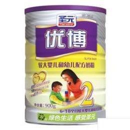 圣元优博较大婴儿奶粉900克价格图片