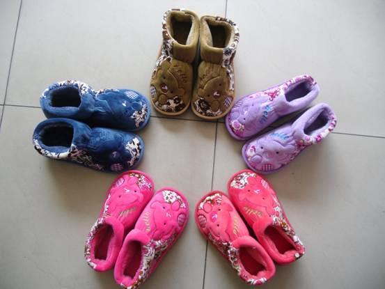 毛绒拖鞋图片|毛绒拖鞋样板图|2012新款男女童冬拖