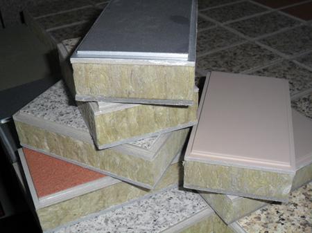 供应氟碳漆岩棉保温装饰一体化板图片
