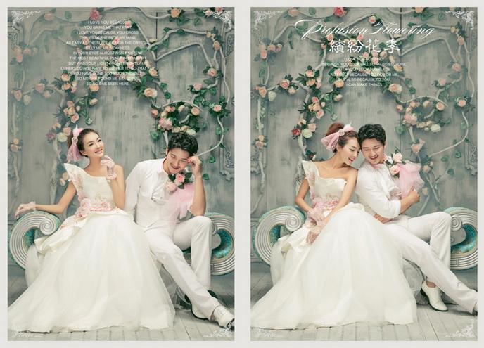 影楼实景背景制作婚纱实景设计图片