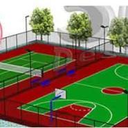 潼南硅PU篮球场建设图片
