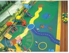 重庆幼儿园彩色塑胶地面图片