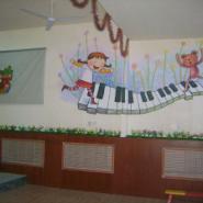幼儿园手绘墙幼儿园装修学校装修图片