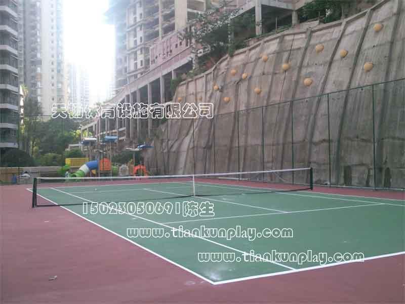 供应重庆哪里有网球场施工图片