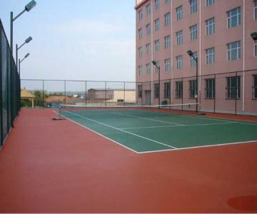 供应重庆塑胶网球场施工,重庆EPDM塑胶羽毛球场厂家,重庆篮球场承接图片