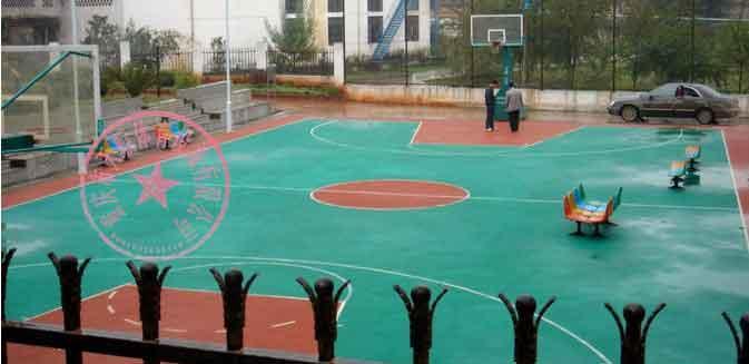 供应重庆篮球场厂家施工图片