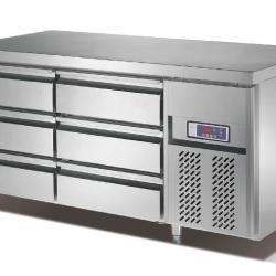 供應雅紳寶全不鏽鋼直冷抽屜櫃