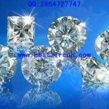 供应锆石宝石工艺品宝石工艺品裸石金黄蛋形锆石八心八