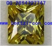 现货供应 橄榄绿小圆形彩色锆石 宝石加工工艺