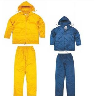黄色藏青色产品描述 :雨衣套装