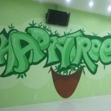 承接北京幼儿园墙体彩绘北京幼儿园墙绘北京幼儿园手绘墙画林盟艺饰批发