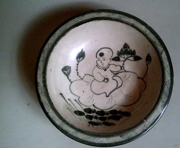 李苦禪/供应宋代磁州窑瓷器白地黑釉碗