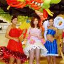 创新广告气球服装制作跳舞气球道具图片