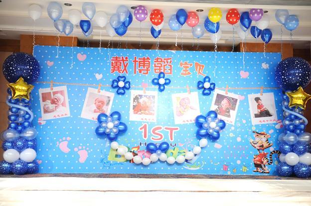 供应广州小孩生日百日宴会场布置套餐