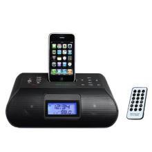 供应苹果iphone/ipod基座音箱ipod接口酒店客房闹钟音箱批发
