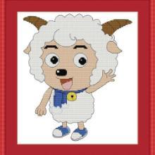 供应 喜羊羊 亿家绣品牌十字绣 十字绣代理 批发