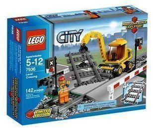v路口乐高lego创意路口积木玩具铁道城市7936|乐高城市路口铁道7936童年游戏玩具图片