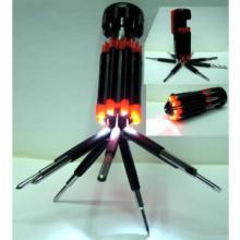 8合1多功能螺丝刀,多用螺丝批起子 启子(6个LED灯)
