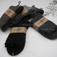供应纯色中筒羊毛袜保暖防寒羊毛袜 图片 效果图