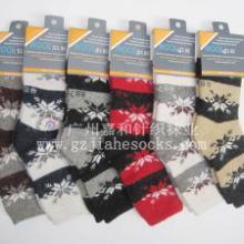 供应加厚羊毛女袜冬季加厚保暖羊毛袜  图片
