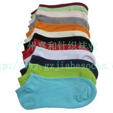 供应条纹女船袜净色船袜子夏季袜子