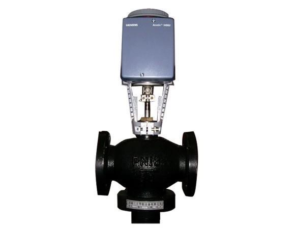 西门子电动二通温控阀图片