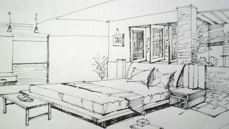 场馆室内设计手绘图分享展示